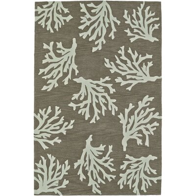 Bovina Hand-Tufted Khaki Area Rug Rug Size: Rectangle 36 x 56