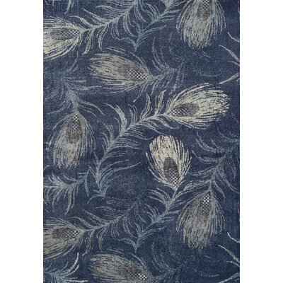 Lavita Navy Area Rug Rug Size: Rectangle 33 x 51