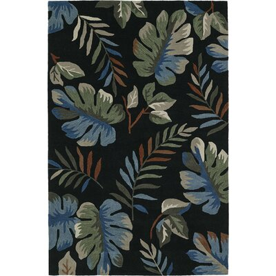 Maui Hand-Tufted Black Area Rug Rug Size: 5 x 76