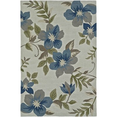 Maui Hand-Tufted Ivory/Blue Area Rug Rug Size: Rectangle 36 x 56