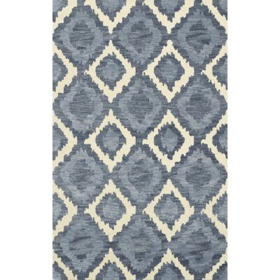 Bella Machine Woven Wool Blue Area Rug Rug Size: Rectangle 4 x 6
