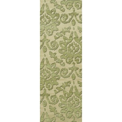 Bella Green Area Rug Rug Size: Runner 26 x 8