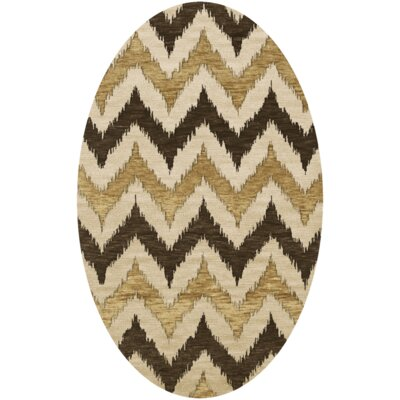 Bella Brown Area Rug Rug Size: Oval 10 x 14