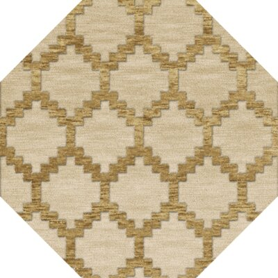 Bella Machine Woven Wool Beige Area Rug Rug Size: Octagon 8