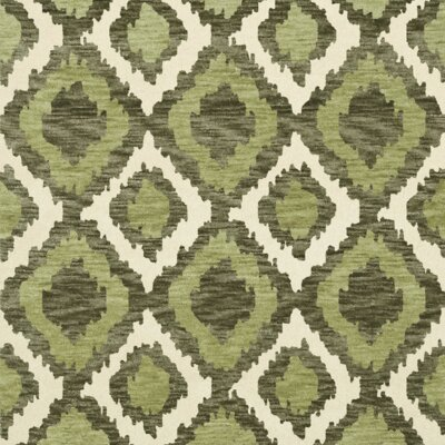 Bella Machine Woven Wool Green Area Rug Rug Size: Square 6