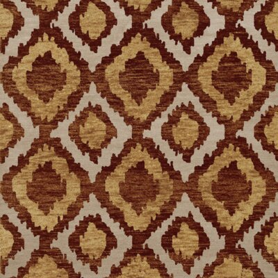 Bella Machine Woven Wool Brown/Beige Area Rug Rug Size: Square 8