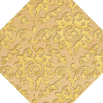 Bella Machine Woven Wool Beige/Yellow Area Rug Rug Size: Octagon 10