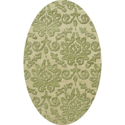 Bella Green Area Rug Rug Size: Oval 12 x 18