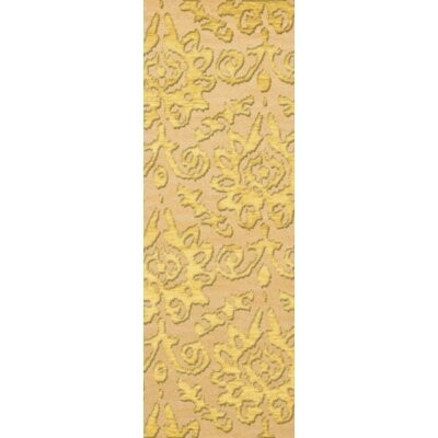 Bella Machine Woven Wool Beige/Yellow Area Rug Rug Size: Runner 26 x 12