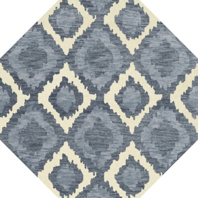Bella Blue Area Rug Rug Size: Octagon 12