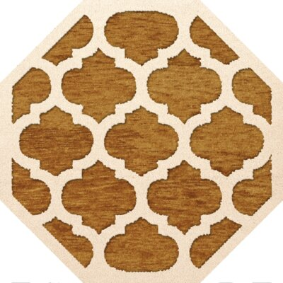 Bella Orange Area Rug Rug Size: Octagon 10