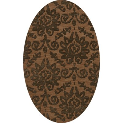 Bella Machine Woven Wool Brown Area Rug Rug Size: Oval 6 x 9