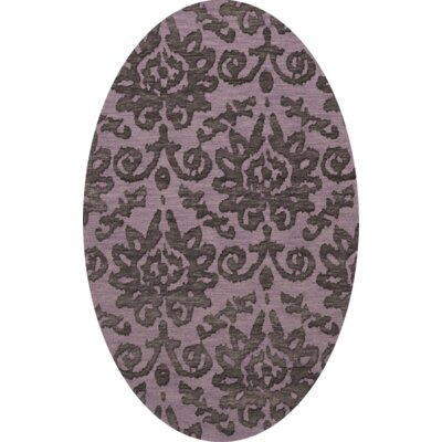 Bella Purple Area Rug Rug Size: Oval 6 x 9