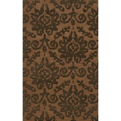 Bella Machine Woven Wool Brown Area Rug Rug Size: Rectangle 9 x 12