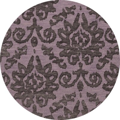 Bella Purple Area Rug Rug Size: Round 8