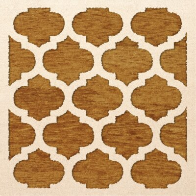 Bella Orange Area Rug Rug Size: Square 10