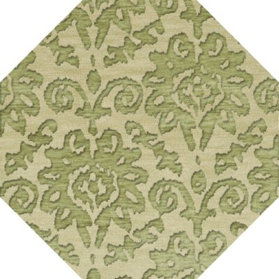 Bella Green Area Rug Rug Size: Octagon 10'