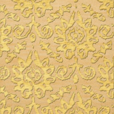 Bella Machine Woven Wool Beige/Yellow Area Rug Rug Size: Square 8