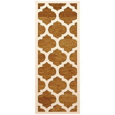 Bella Orange Area Rug Rug Size: Runner 26 x 8