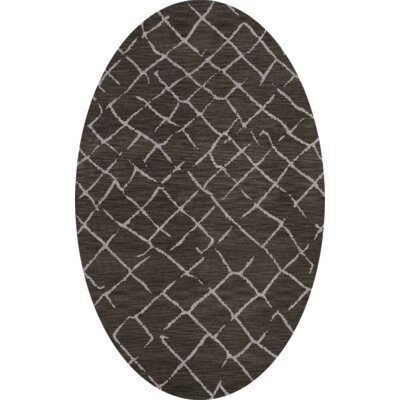 Bella Machine Woven Wool Gray Area Rug Rug Size: Oval 9 x 12