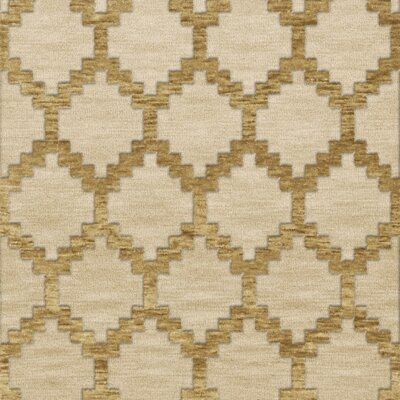 Bella Machine Woven Wool Beige Area Rug Rug Size: Square 4