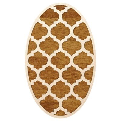 Bella Orange Area Rug Rug Size: Oval 3 x 5