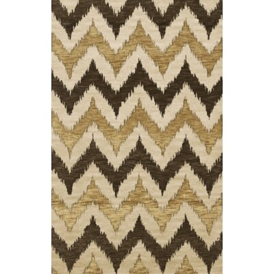Bella Machine Woven Wool Brown Area Rug Rug Size: Rectangle 6' x 9'