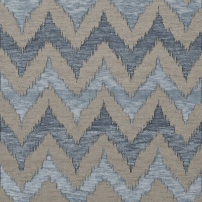 Bella Machine Woven Wool Beige/Blue Area Rug Rug Size: Square 8