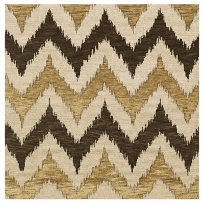 Bella Machine Woven Wool Brown Area Rug Rug Size: Square 6