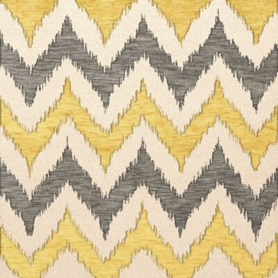 Bella Machine Woven Wool Beige/Gray/Yellow Area Rug Rug Size: Square 6
