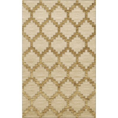 Bella Machine Woven Wool Beige Area Rug Rug Size: Rectangle 5 x 8