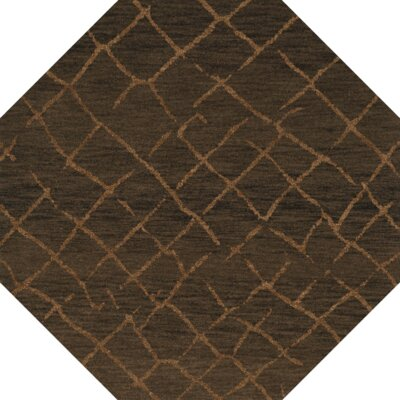 Bella Machine Woven Wool Brown Area Rug Rug Size: Octagon 12