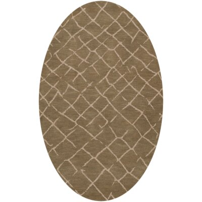 Bella Brown Area Rug Rug Size: Oval 8 x 10