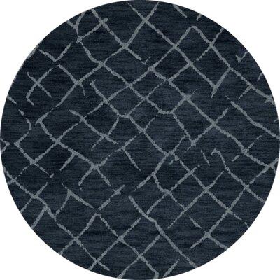 Bella Blue Area Rug Rug Size: Round 6