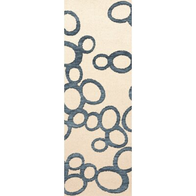 Bella Machine Woven Wool Beige Area Rug Rug Size: Runner 26 x 8