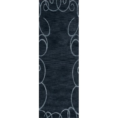 Bella Blue Area Rug Rug Size: Runner 26 x 8
