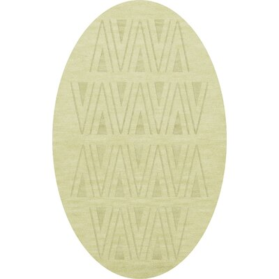 Bella Machine Woven Wool Beige Area Rug Rug Size: Oval 9 x 12