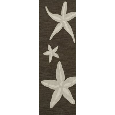 Bella Brown/Beige Area Rug Rug Size: Runner 26 x 8