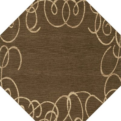 Bella Machine Woven Wool Brown Area Rug Rug Size: Octagon 8
