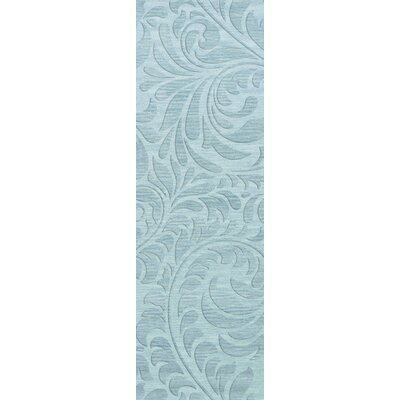 Bella Blue Area Rug Rug Size: Runner 26 x 10