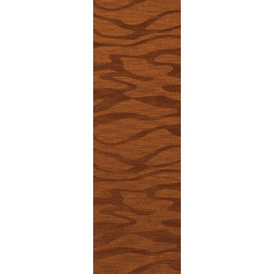 Bella Rust/Orange Area Rug Rug Size: Runner 26 x 12