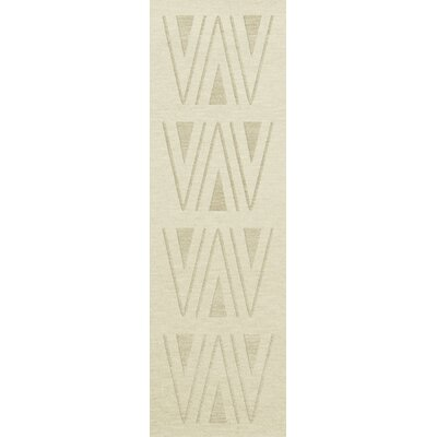 Bella Machine Woven Wool White Area Rug Rug Size: Runner 26 x 8