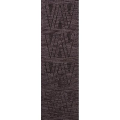 Bella Machine Woven Wool Purple Area Rug Rug Size: Runner 26 x 10