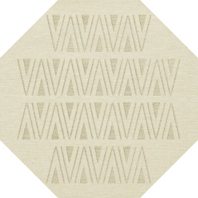 Bella Machine Woven Wool White Area Rug Rug Size: Octagon 12