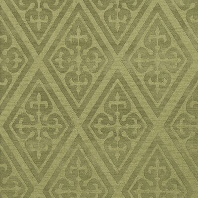 Bella Machine Woven Wool Green Area Rug Rug Size: Square 12