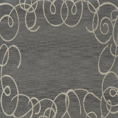 Bella Gray Area Rug Rug Size: Square 8