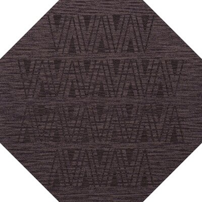 Bella Machine Woven Wool Purple Area Rug Rug Size: Octagon 6