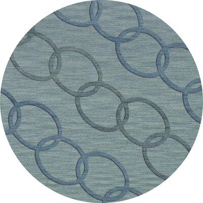 Bella Blue Blue Area Rug Rug Size: Round 4