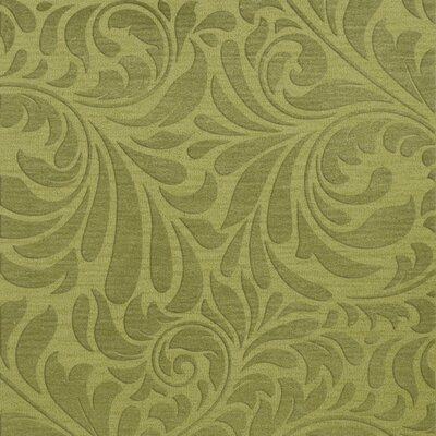 Bella Machine Woven Wool Green Pad Area Rug Rug Size: Square 12