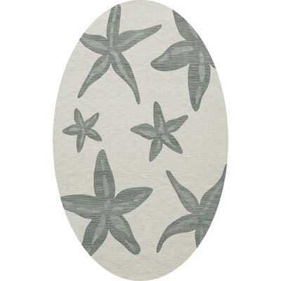 Bella Gray Area Rug Rug Size: Oval 5 x 8